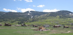 Panoramic view of Coyote Run at Stagecoach and Stagecoach Ski Area